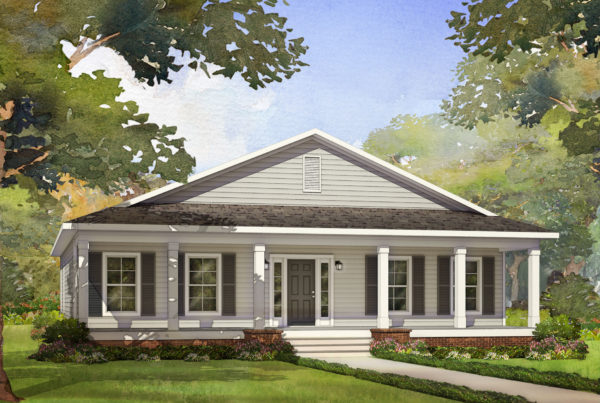 moss creek modular home rendering