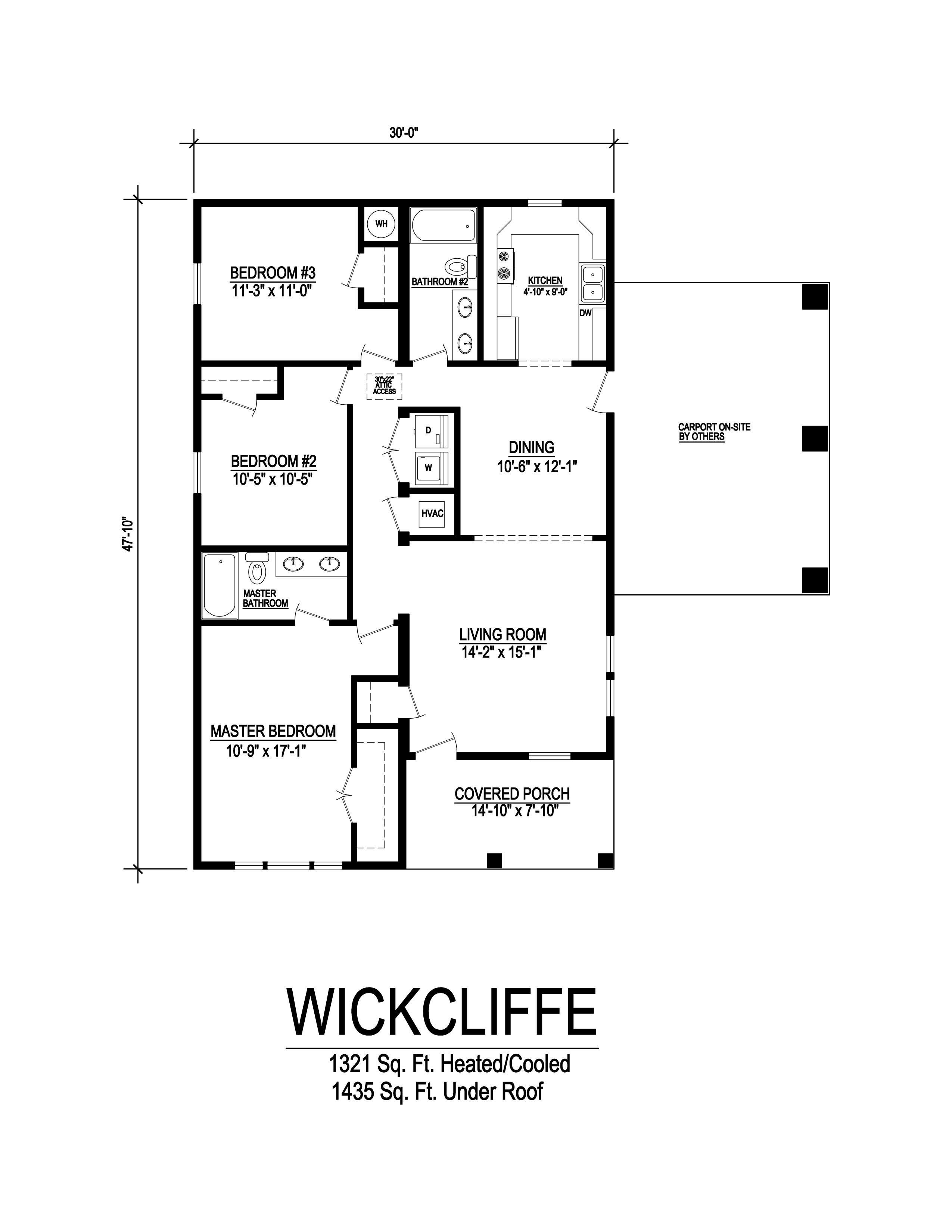 wickliffe modular home floorplan