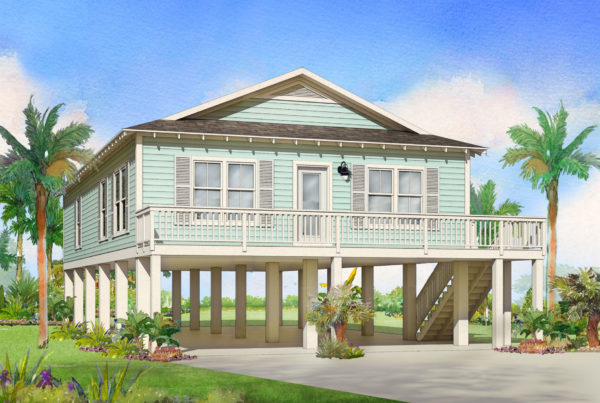 acadian modular home rendering