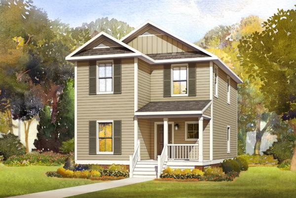 baypine modular home rendering