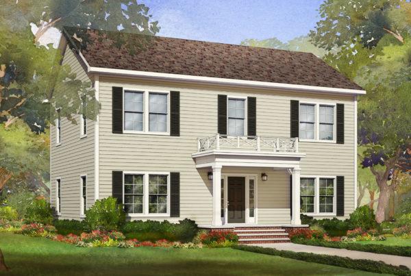 heritage modular home rendering