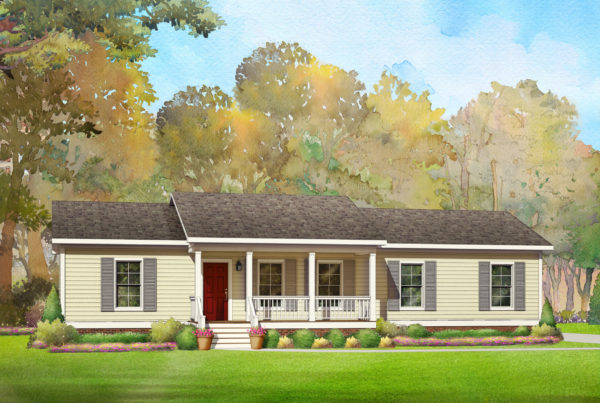 hunters creek modular home rendering