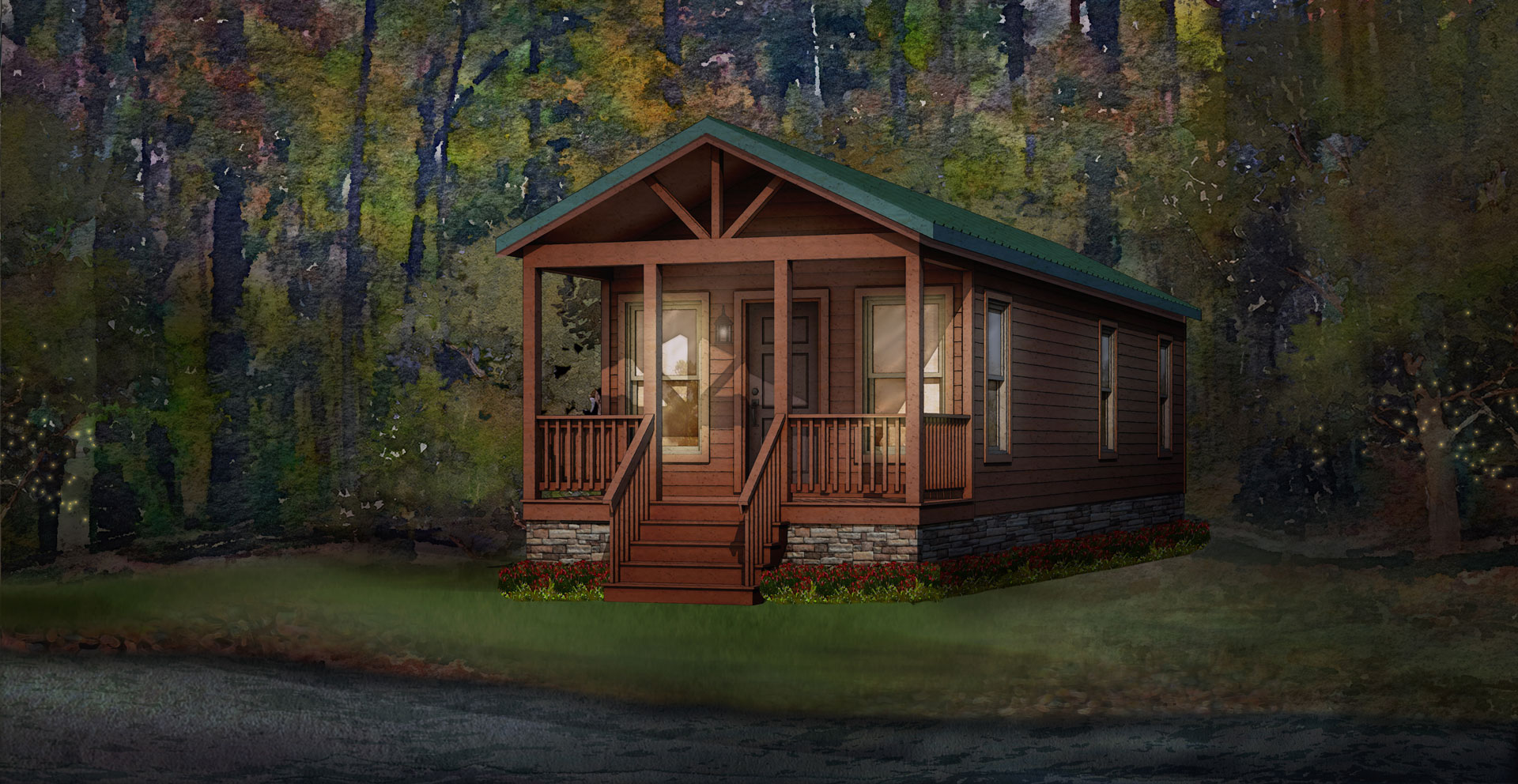 pine cove modular home rendering