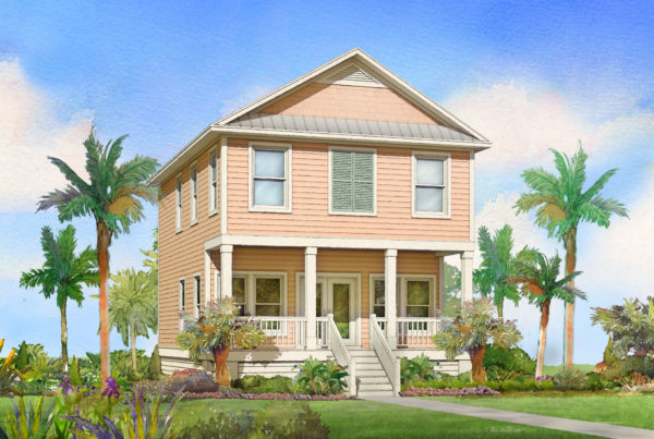 redfish modular home rendering