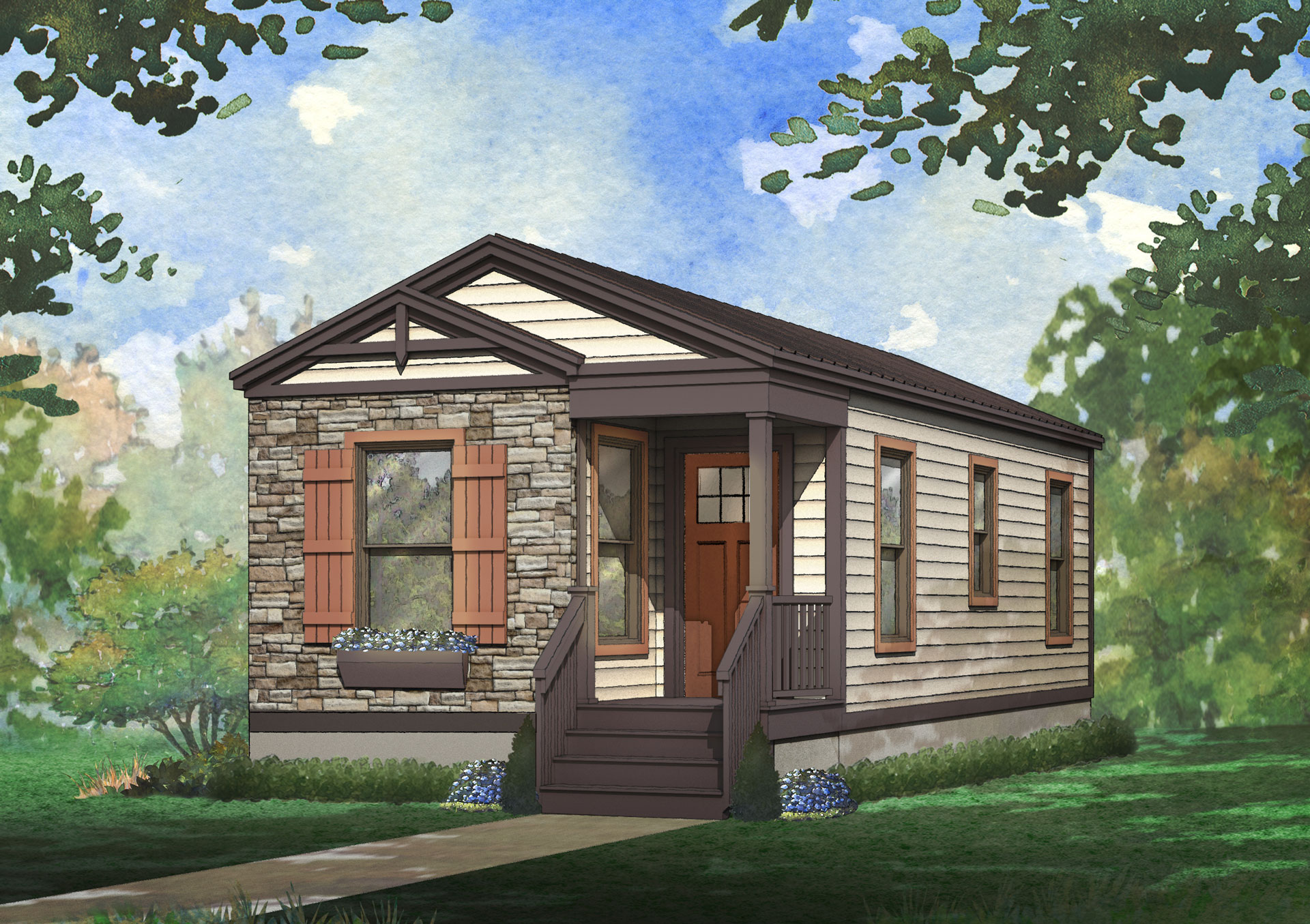 thistle modular home rendering