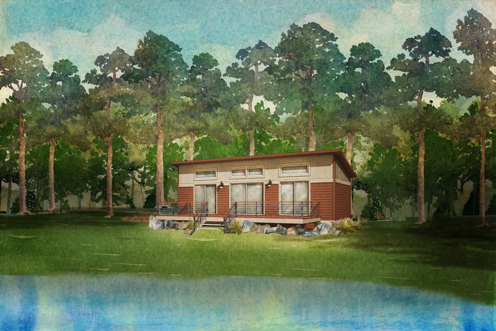 foxtail modular home rendering