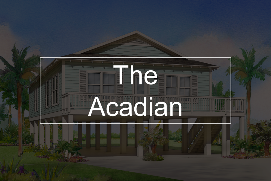 acadian modular home button