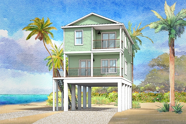 cape san blas modular home rendering button