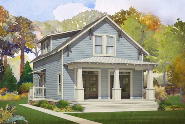 coffee bluff modular home rendering