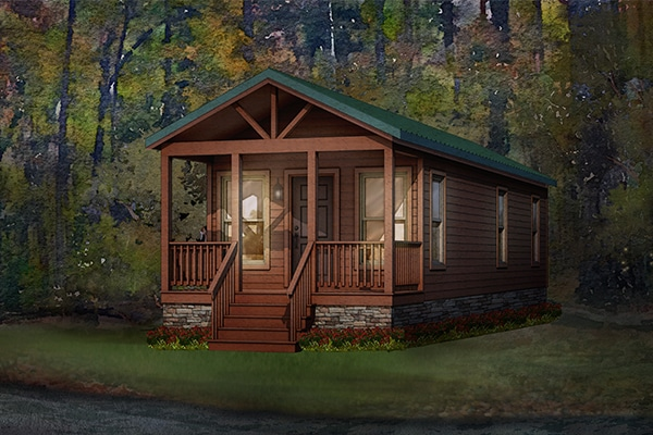 pine cone modular home rendering button