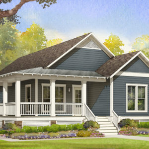 sapelo modular home rendering button