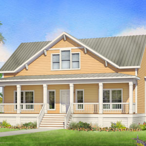 savannah modular home rendering button