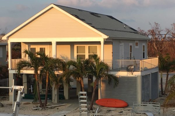 modular home affected by hurricane