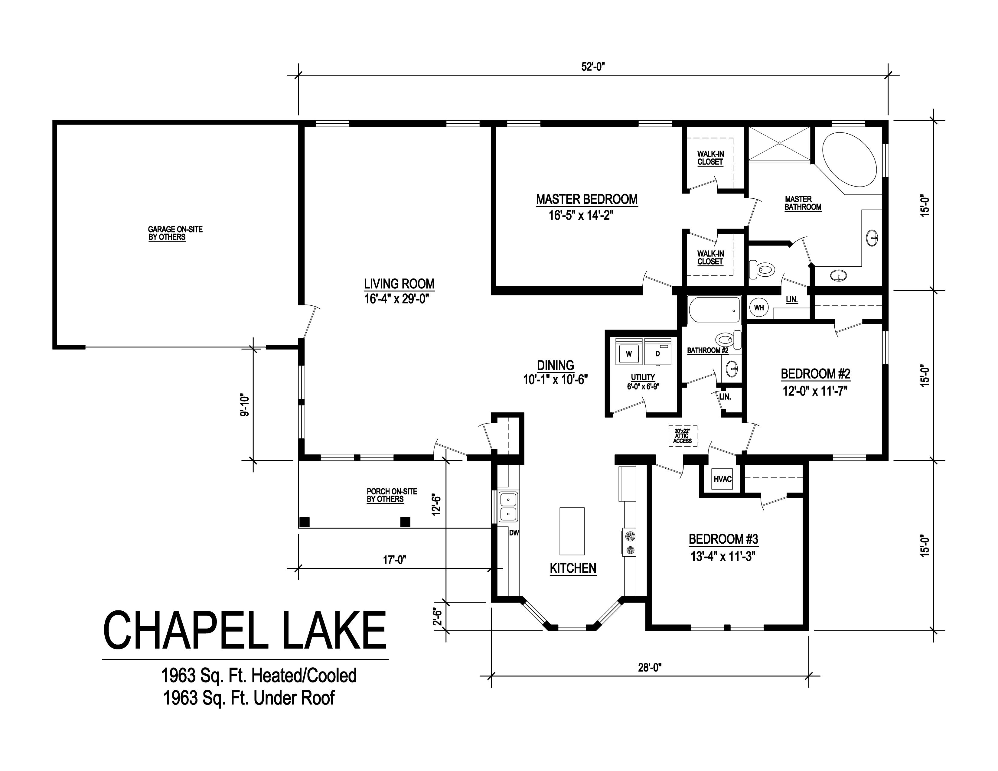 Chapel lake modular home floorplan