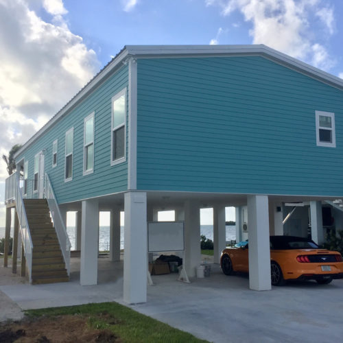 water front beach vacation modular home