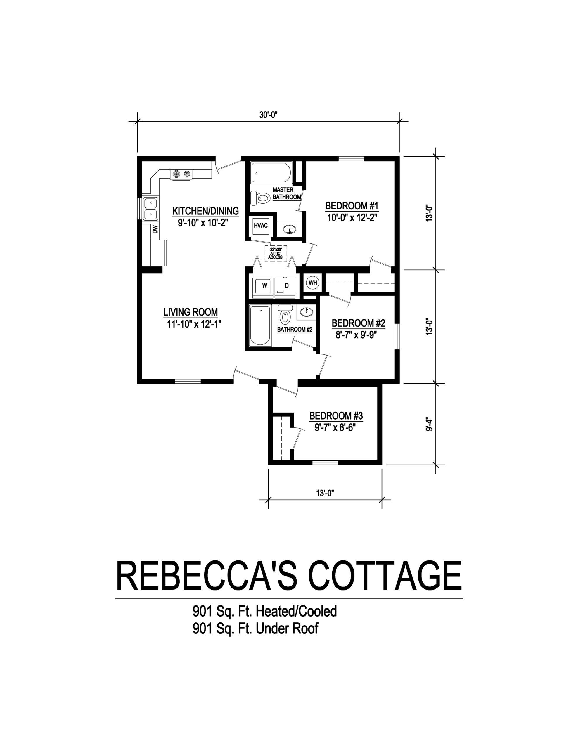 rebeccas cottage modular home floorplan
