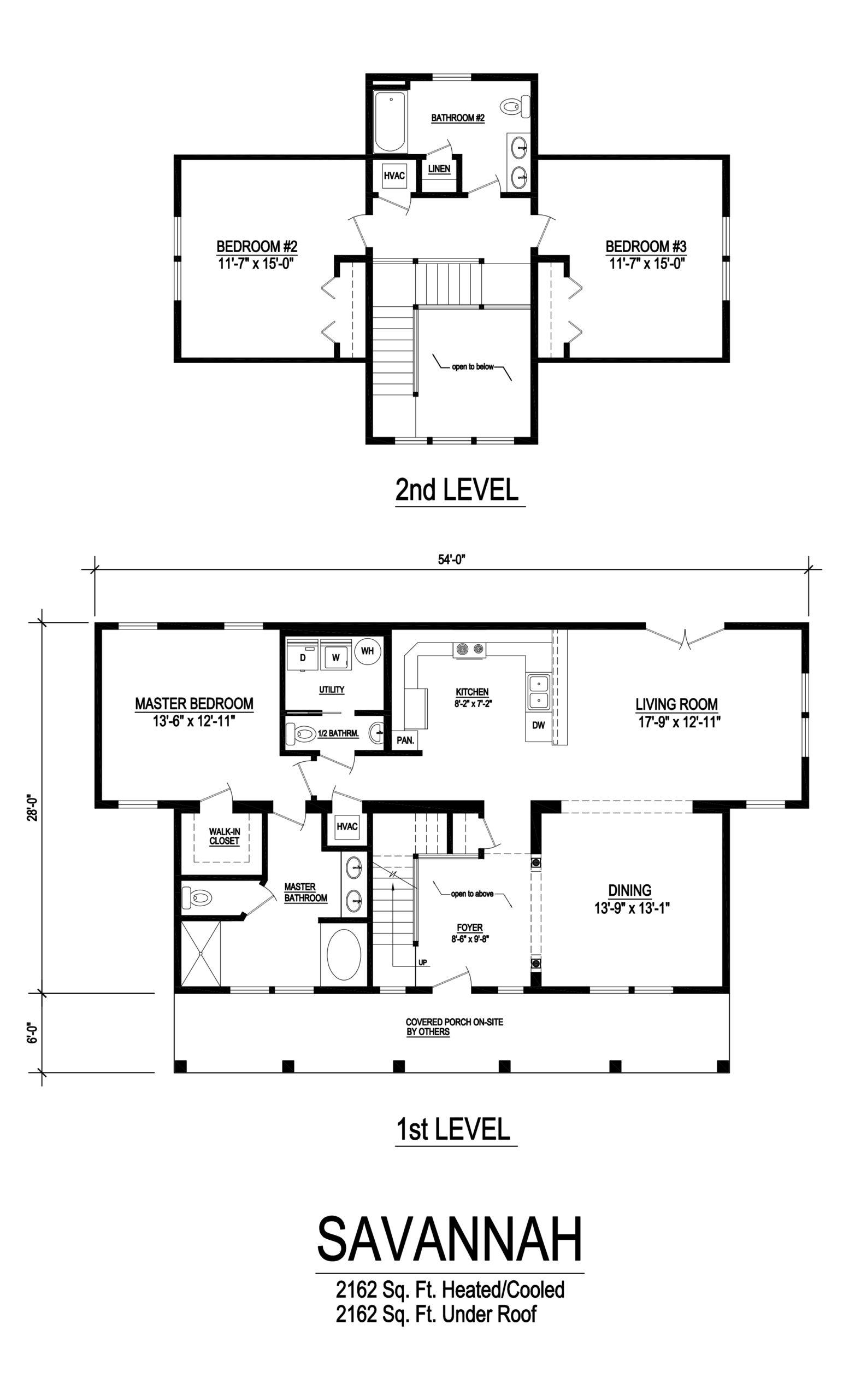 savannah modular home floorplan