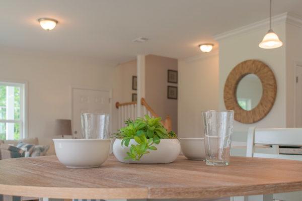 modular home breakfast nook