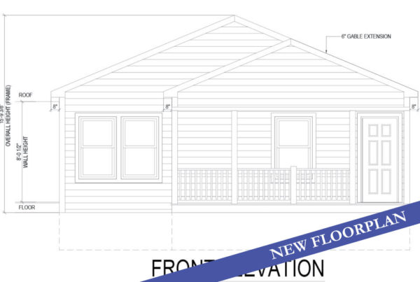 coral cottage modular home drawing