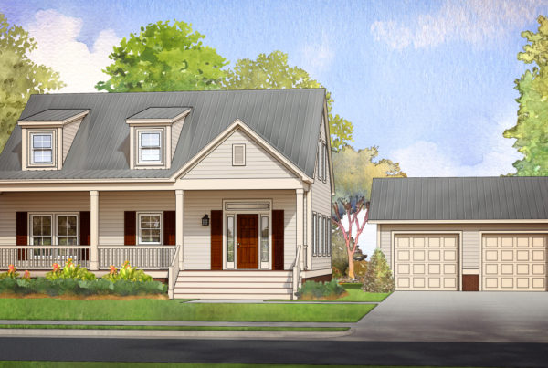 summerville modular home rendering